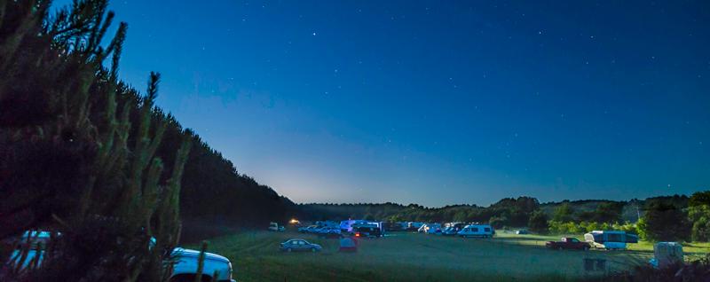 Campsites at Night